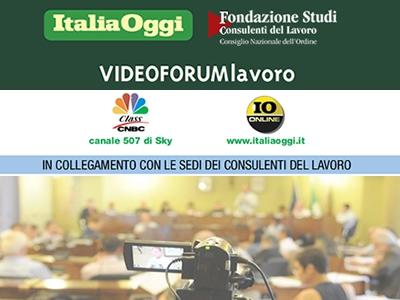 JOBS ACT: VIDEOFORUM DEL 13 MARZO CON FONDAZIONE STUDI E ITALIA OGGI